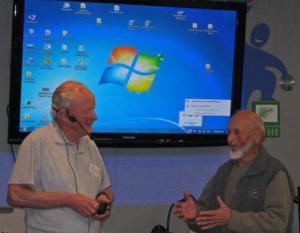 Guest speaker meteorologist Terry Smith & friend